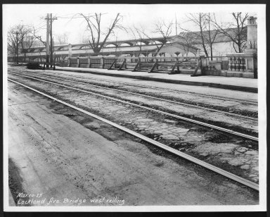 Street Improvement Photographs -- Box 26, Folder 04 (Lockland Avenue Bridge) -- print, 1927-03-10
