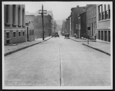 Street Improvement Photographs -- Box 26, Folder 05 (Logan Street) -- print, 1933-01-12