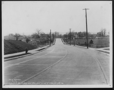 Street Improvement Photographs -- Box 26, Folder 07 (Losantiville Avenue) -- print, 1932-04-05