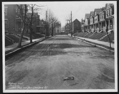 Street Improvement Photographs -- Box 26, Folder 14 (Ludlow Place) -- print, 1930-02-14