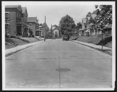 Street Improvement Photographs -- Box 26, Folder 14 (Ludlow Place) -- print, 1930-07-15
