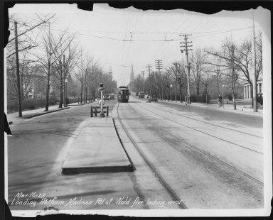 Street Improvement Photographs -- Box 26, Folder 20 (Madison Road) -- print, 1927-03-16