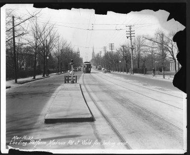 Street Improvement Photographs -- Box 26, Folder 21 (Madison Road) -- print, 1927-03-16