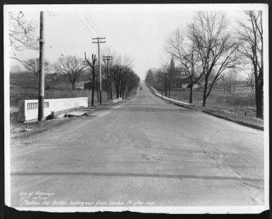 Street Improvement Photographs -- Box 26, Folder 21 (Madison Road) -- print, 1931-12-15
