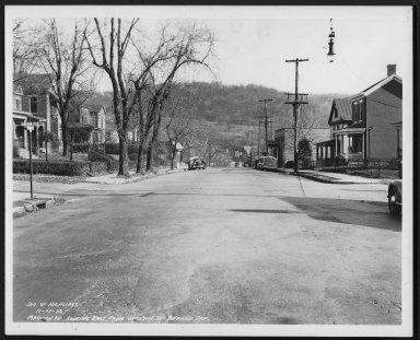 Street Improvement Photographs -- Box 26, Folder 21 (Madison Road) -- print, 1938-11-21