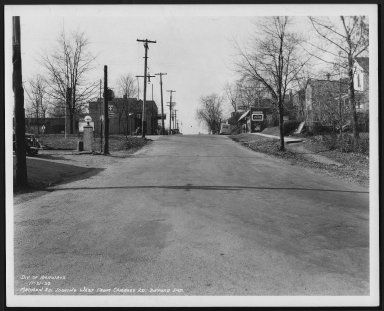 Street Improvement Photographs -- Box 26, Folder 21 (Madison Road) -- print, 1938-11-21