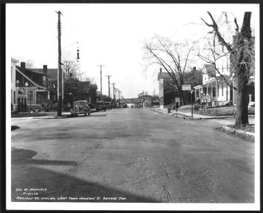 Street Improvement Photographs -- Box 26, Folder 22 (Madison Road) -- print, 1938-11-21