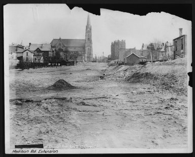 Street Improvement Photographs -- Box 26, Folder 23 (Madison Road Extension) -- print, 1929-03-11