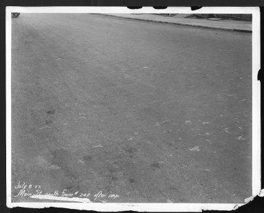 Street Improvement Photographs -- Box 26, Folder 25 (Main Street) -- print, 1927-07-08