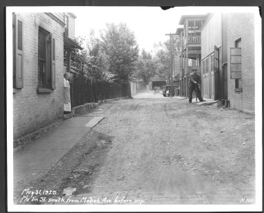 Street Improvement Photographs -- Box 26, Folder 26 (Malin Street) -- print, 1929-05-31