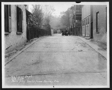 Street Improvement Photographs -- Box 26, Folder 26 (Malin Street) -- print, 1929-10-15