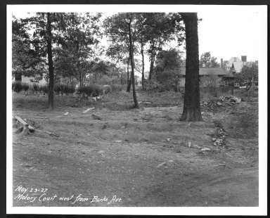 Street Improvement Photographs -- Box 26, Folder 27 (Malory Court) -- print, 1927-05-23