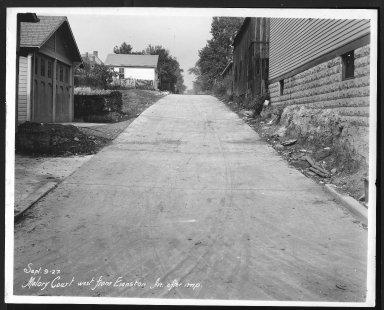 Street Improvement Photographs -- Box 26, Folder 27 (Malory Court) -- print, 1927-09-09