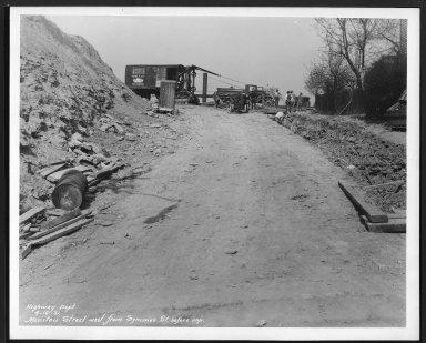 Street Improvement Photographs -- Box 26, Folder 28 (Manitou Street) -- print, 1931-04-16