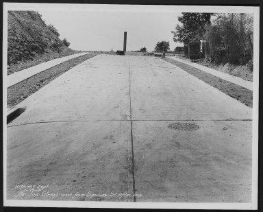 Street Improvement Photographs -- Box 26, Folder 28 (Manitou Street) -- print, 1931-07-27