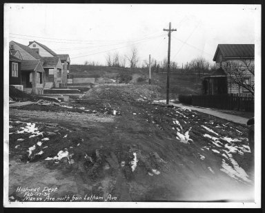 Street Improvement Photographs -- Box 26, Folder 30 (Manss Avenue) -- print, 1930-02-17