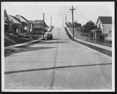 Street Improvement Photographs -- Box 26, Folder 30 (Manss Avenue) -- print, 1930-09-19