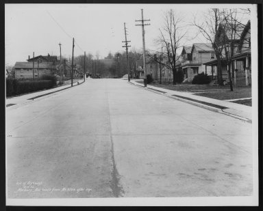 Street Improvement Photographs -- Box 26, Folder 31 (Marburg Avenue) -- print, 1932-04-06