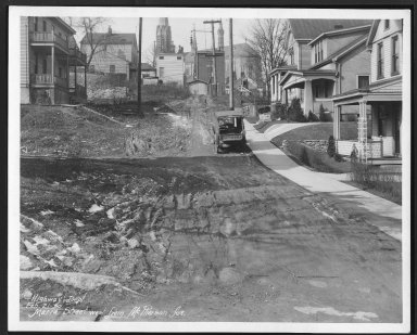Street Improvement Photographs -- Box 26, Folder 32 (Maria Street) -- print, 1930-02-21