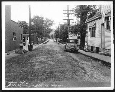 Street Improvement Photographs -- Box 26, Folder 35 (Mathis Street) -- print, 1930-06-09