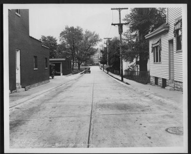 Street Improvement Photographs -- Box 26, Folder 35 (Mathis Street) -- print, 1930-09-22