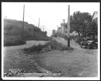 Street Improvement Photographs -- Box 26, Folder 36 (May Street) -- print, 1931-08-28