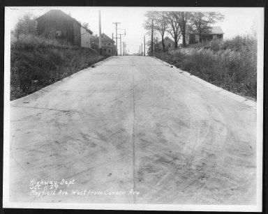 Street Improvement Photographs -- Box 26, Folder 37 (Mayfield Avenue) -- print, 1929-10-11