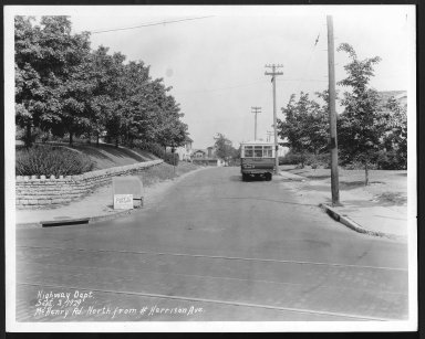 Street Improvement Photographs -- Box 26, Folder 42 (McHenry Avenue) -- print, 1929-09-03