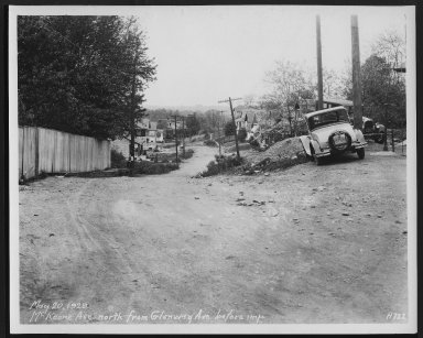 Street Improvement Photographs -- Box 26, Folder 44 (McKeone Avenue) -- print, 1929-05-20