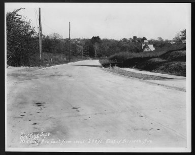 Street Improvement Photographs -- Box 26, Folder 45 (McKinley Avenue) -- print, 1929-10-17