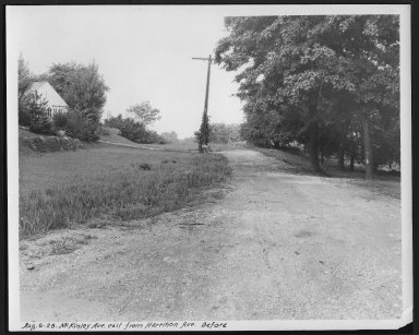 Street Improvement Photographs -- Box 26, Folder 45 (McKinley Avenue) -- print, 1928-08-06
