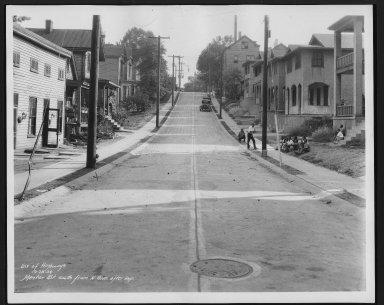 Street Improvement Photographs -- Box 26, Folder 58 (Mentor Street) -- print, 1934-09-28