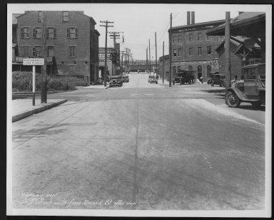 Street Improvement Photographs -- Box 26, Folder 62 (Mill Street) -- print, 1931-07-28