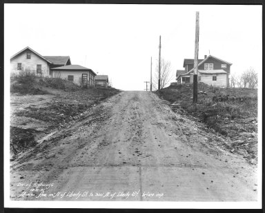Street Improvement Photographs -- Box 26, Folder 65 (Minion Avenue) -- print, 1931-12-31