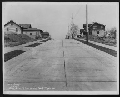 Street Improvement Photographs -- Box 26, Folder 65 (Minion Avenue) -- print, 1932-04-06
