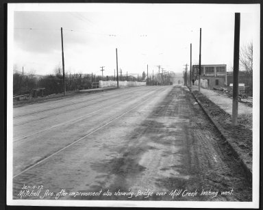 Street Improvement Photographs -- Box 26, Folder 67 (Mitchell Avenue) -- print, 1927-01-05