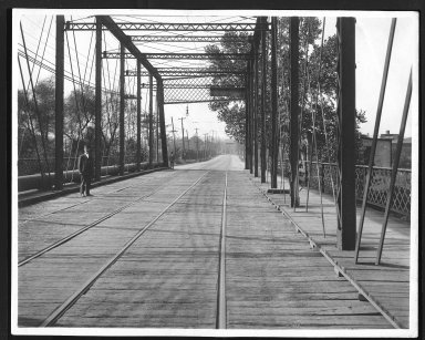 Street Improvement Photographs -- Box 27, Folder 01 (Mitchell Avenue Bridge) -- print, 1916-10-05