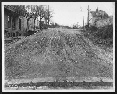 Street Improvement Photographs -- Box 27, Folder 02 (Monroe Street) -- print, 1930-01-06