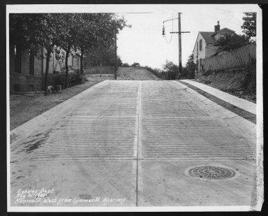 Street Improvement Photographs -- Box 27, Folder 02 (Monroe Street) -- print, 1930-08-21