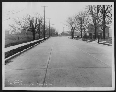 Street Improvement Photographs -- Box 27, Folder 04 (Montana Avenue) -- print, 1935-12-11