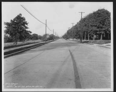 Street Improvement Photographs -- Box 27, Folder 05 (Montana Avenue) -- print, 1935-10-16