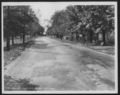 Street Improvement Photographs -- Box 27, Folder 05 (Montana Avenue) -- print, 1933-10-23