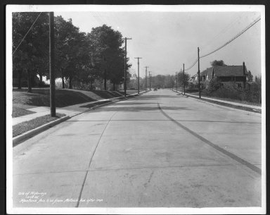 Street Improvement Photographs -- Box 27, Folder 05 (Montana Avenue) -- print, 1935-10-15