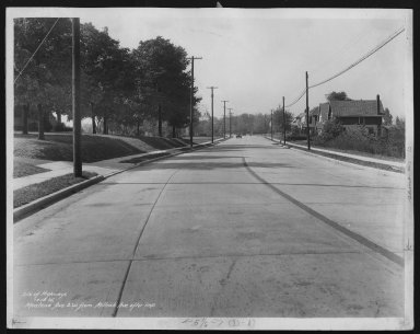Street Improvement Photographs -- Box 27, Folder 06 (Montana Avenue) -- print, 1935-10-16