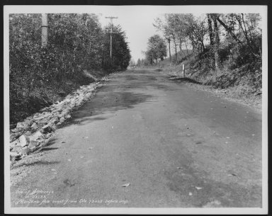 Street Improvement Photographs -- Box 27, Folder 06 (Montana Avenue) -- print, 1933-10-23
