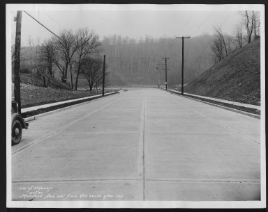 Street Improvement Photographs -- Box 27, Folder 07 (Montana Avenue) -- print, 1935-12-11