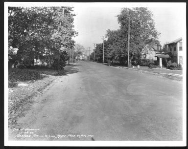 Street Improvement Photographs -- Box 27, Folder 09 (Montana Avenue) -- print, 1933-10-23
