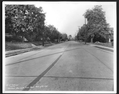 Street Improvement Photographs -- Box 27, Folder 09 (Montana Avenue) -- print, 1935-10-15