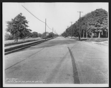 Street Improvement Photographs -- Box 27, Folder 09 (Montana Avenue) -- print, 1935-10-16