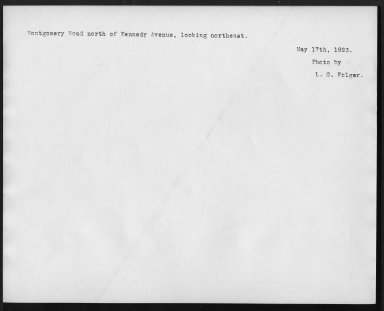 Street Improvement Photographs -- Box 27, Folder 10 (Montgomery Road) -- print, 1923-05-17 (back of photograph)